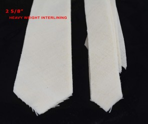 "PRE-CUT 2 5/8"" wide HEAVY weight necktie interfacing / interlining - AC Ter Kuile, finest available, Made Netherlands"