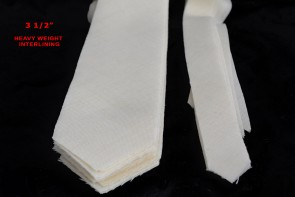 """PRE-CUT 3 1/2"""" wide HEAVY weight necktie interfacing / interlining - AC Ter Kuile, finest available, Made Netherlands"""