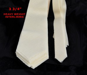 "PRE-CUT 3 3/4"" wide HEAVY weight necktie interfacing / interlining - AC Ter Kuile, finest available, Made Netherlands"