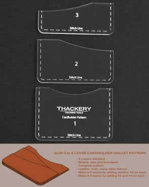 SLIM 3 to 6 LAYER CARDHOLDER WALLET PATTERN -- Superb Quality, no finer patterns available anywhere in the world
