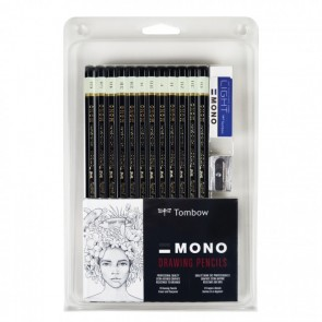 TOMBOW MONO Drawing Pencil - Drawing Pencil Set of 12 Pencils