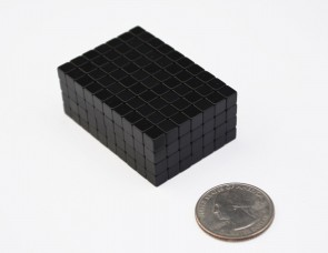 "25 pcs EPOXY COATED CUBE MAGNETS 5mm (3/16"") - N40 Neodymium"