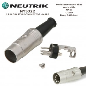 NEUTRIK NYS322 5 PIN DIN Style Connector - For Interconnect Cables - for NAIM, QUAD and Bang & Olufsen audio equipment