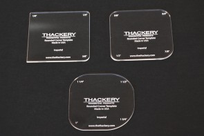 Thackery Acrylic Rounded Corner Template - INCHES - complete set of 3 templates - 12 sizes