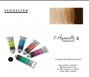 Sennelier 'French Artists' Watercolor 21ml #202 Burnt Umber