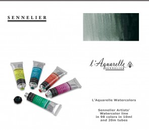 Sennelier 'French Artists' Watercolor 21ml #203 Greenish Umber