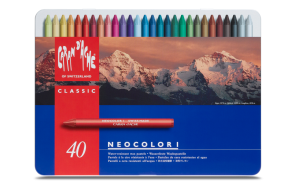 Caran d'Ache - NEOCOLOR I - 40 COLOR ASSORTMENT