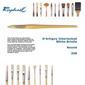 Raphael D'Artigny Interlocked White Bristle 358 (Round)