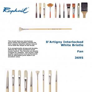 Raphael D'Artigny Interlocked White Bristle 3695 (Fan)