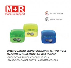 Mobius & Ruppert (M+R) 0356 Quattro Swing 2 hole container magnesium sharpener