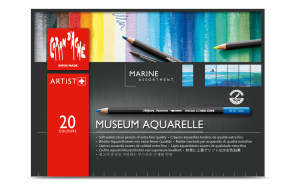 "MUSEUM AQUARELLE - ""MARINE"" ASSORTMENT OF 20 COLORS"