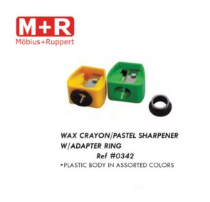 Mobius + Ruppert (M+R) 0342 Wax Crayon / Pastel single sharpener with adaptor