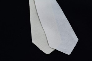 "PRE-CUT 3 1/2"" wide - 2 layer cotton + wool necktie interfacing / interlining, AC Ter Kuile, finest available, Made Netherlands"
