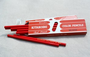 KITABOSHI 9352 Red Marking Pencils - 12 pack - Made in Japan