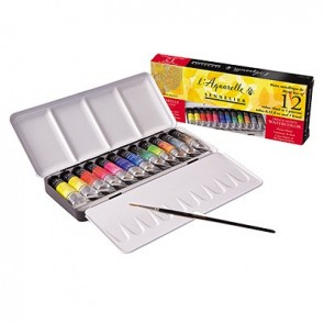 Sennelier - French Artists' Watercolor - Metal Set of 12 10ml Tubes