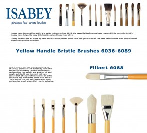 Isabey Yellow Handle Bristle 6088 (Filbert)