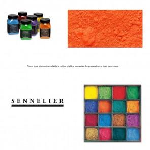 Sennelier #609 -Dry Pigment 110g Jar Cadmium Red Orange