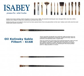 Isabey Oil Kolinsky Sable 6168 (Filbert)