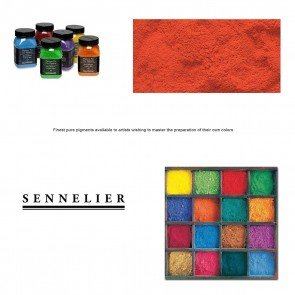 Sennelier #619 -Dry Pigment 40g Jar Helios Red