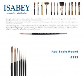 Isabey Red Sable Round 6223