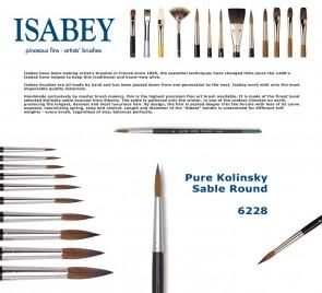 Isabey Pure Kolinsky Sable Round 6228