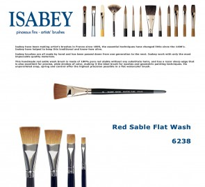 Isabey Red Sable Flat Wash 6238
