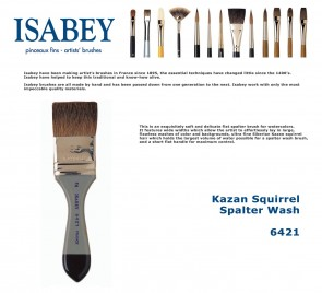 Isabey Kazan Squirrel Spalter Wash 6421