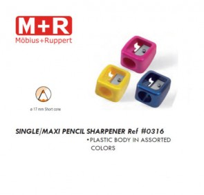 Mobius + Ruppert (M+R) 0316 SINGLE MAXI pencil sharpener