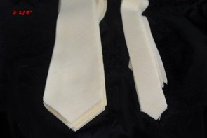 "PRE-CUT 3 1/4"" wide medium weight necktie interfacing / interlinging, 100% wool W14/13-33TH AC Ter Kuile,"