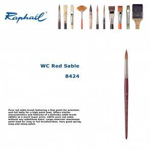 Raphael WC Red Sable  (Round)