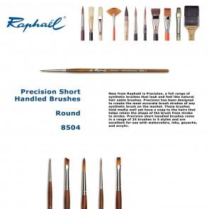 Raphael Precision Short Handled Brushes 8504  (Round)