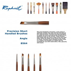 Raphael Precision Short Handled Brushes 8564 (Angle)