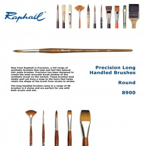 Raphael Precision Long Handled Brushes 8900  (Round)