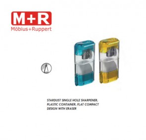 Mobius + Ruppert (M+R) 0955 STARDUST Pencil sharpener w eraser and container