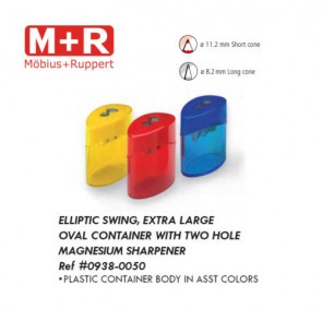 Mobius & Ruppert (M+R) 0938-50 Elliptic Swing sharpener, lead/color pencils