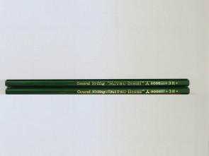 VINTAGE MITSUBISHI 9000 General Writing Pencil - 3H - Made in Japan