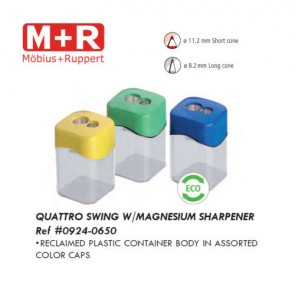 Mobius & Ruppert (M+R) 0924-0650 Quattro Swing magnesium sharpener, lead color
