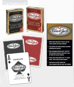 BLACK JACK BRAND CASINO STYLE PLAYING CARDS - Made in USA