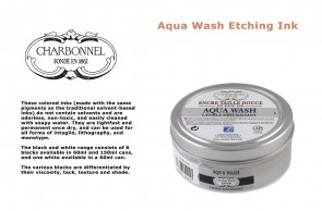 Charbonnel Aqua Wash Etching Ink 60ml S1 Black RSR
