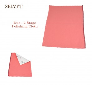 "Selvyt® Duo - 2 Stage Polishing Cloth - available in 6"" x 7.5"" or 9"" x 11"" - Made in England"