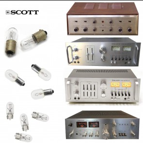 Replacement Bulbs for Vintage HH Scott R74S, R75S, R77S Receiver - 7 bulb set
