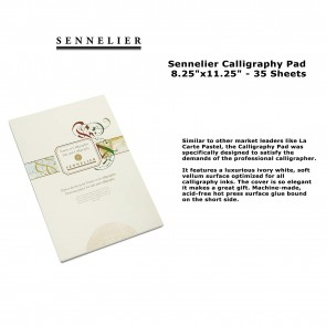 "Sennelier Calligraphy Pad 8.25""x11.25"" - 35 Sheets"