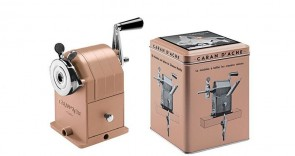 Caran d'Ache - BRUT ROSE - MATTERHORN EDITION Cast Metal Pencil-Sharpening Machine - crank style sharpener for pencils w table mount - Made in Switzerland