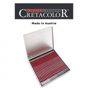 Creatacolor Red Graphite Pencil Tin Box of 24