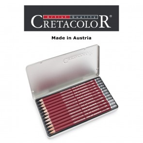 Creatacolor Red Graphite Pencil Tin Set of 12