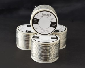 Thackery Silver Flux Core Solder Wire - SAC305 - available in 1mm .8mm and .5mm thickness - sold by the foot/meter (25m/75ft x .5mm Thickness)