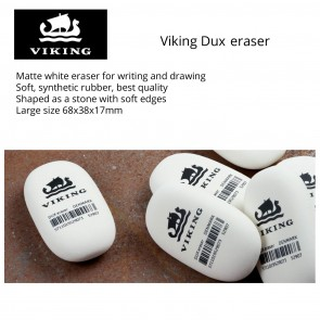 VIKING DUX Pencil Eraser 2PK - matte white eraser for writing and drawing