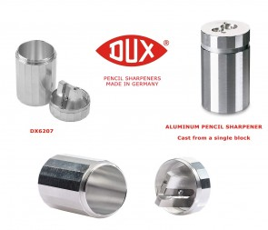 DUX Double Hole Round Aluminum Pencil Sharpener - DX6207