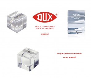 Pencil Sharpener, DUX Luxury Acrylic Cube Shaped. 1-hole - DX6307
