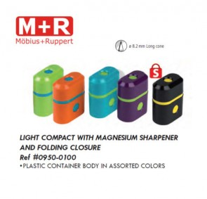 Mobius & Ruppert (M+R) 0950-10 iLight compact plastic reservoir, with closure